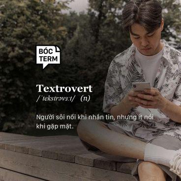 Bóc Term: Textrovert là hướng nội hay hướng ngoại?