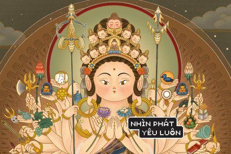 Brain Huy với sự chữa lành trong tranh vẽ Bụt và văn hoá Phật Giáo