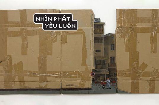 Nguyễn Việt Cường: Đại dịch tại Việt Nam, tái hiện trên những tấm bìa carton
