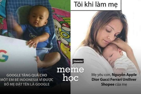 Meme học: Đặt tên con sao cho sang?