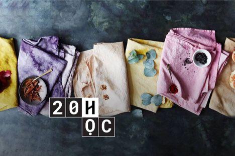 """20 Giờ học """"lưu dấu"""" màu hoa lên vải"""